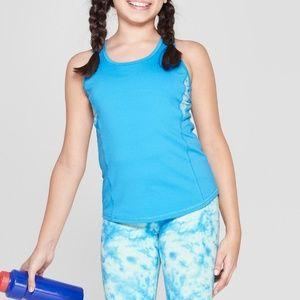 Umbro Girls Tie Dye Mesh Back Performance Tank M